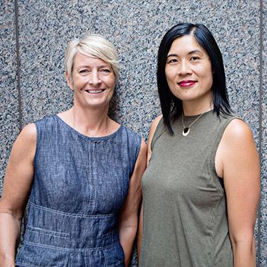 Kristine Lyons and Cynthia Chan